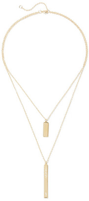 Elizabeth and James - Amber Gold-plated Topaz Necklace - one size $195 thestylecure.com