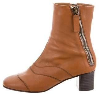Chloé Lexie Leather Ankle Boots
