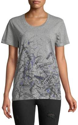 Burberry Scribble Graphic T-Shirt