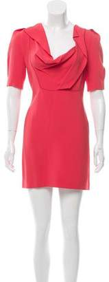 Roland Mouret Draped Mini Dress