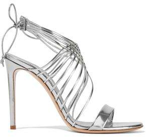 Casadei Evening Strap-detailed Mirrored-leather Sandals