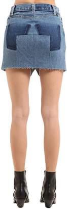 Vetements Raw Cut Cotton Denim Mini Skirt