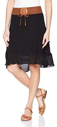 Amy Byer A. Byer Junior's High-Low Belted Skirt