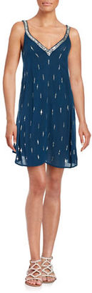Free People Sequin Trapeze Dress $88 thestylecure.com
