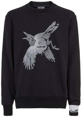 Lanvin Embroidered Bird Sweatshirt