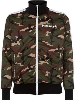 Palm Angels Camouflage Printed Zip-Up Sweatshirt