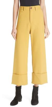 Sea Cuff Crop Wide Leg Pants
