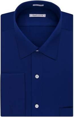 Van Heusen Men's Regular-Fit French Cuff Spread-Collar Dress Shirt
