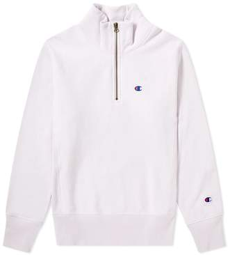 Champion Reverse Weave Quarter Zip Small Logo Sweat