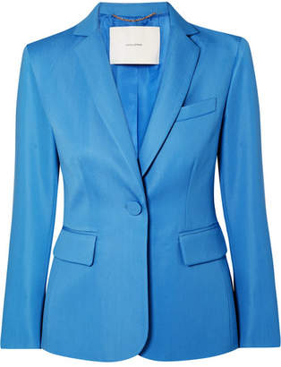 ADAM by Adam Lippes Wool-blend Gabardine Blazer - Blue