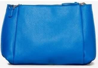 Dorothy Perkins Womens Blue Pouch Zip Top Clutch Bag
