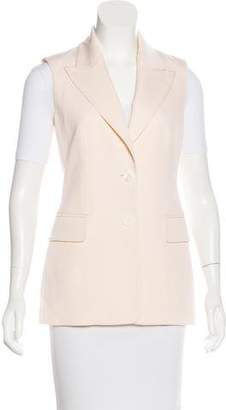 Michael Kors Wool Peak-Lapel Vest