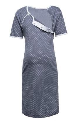 Happy Mama. Womens Maternity Hospital Gown Nightie Polka Dot Breastfeeding. 115p (, US 4, S)