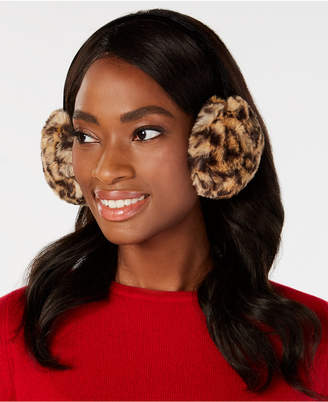 INC International Concepts I.N.C. Animal-Print Faux-Fur Earmuffs, Created for Macy's