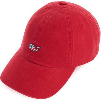 Vineyard Vines Womens Flag Whale Baseball Hat