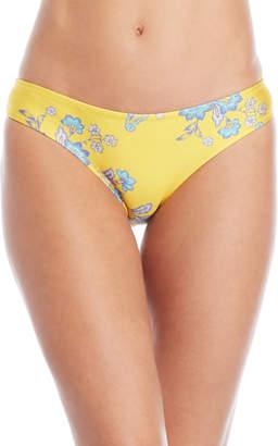 Sam Edelman Yellow Floral Bikini Bottom