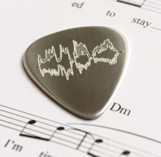 Newton and the Apple Personalised Sound Wave Sterling Silver Pick