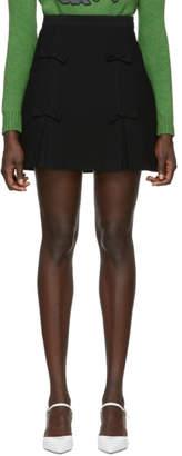 Miu Miu Black Cady Bow Miniskirt