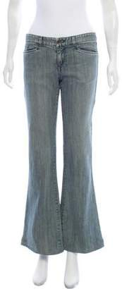 Theyskens' Theory Mid-Rise Flare Jeans