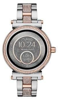 Michael Kors Sofie Two-Tone Pave Touchscreen Bracelet Smart Watch