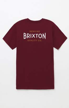 Brixton Cinema Burgundy T-Shirt