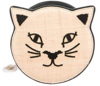 Charlotte Olympia Kitty Raffia Shoulder Bag
