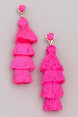 Wild Lilies Jewelry Pink Tassel Earrings