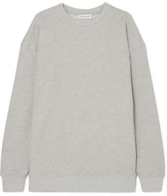 Ninety Percent - Linda Oversized Organic Cotton-jersey Sweatshirt - Light gray