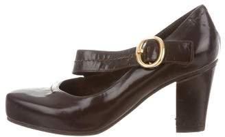 Marc Jacobs Leather Square-Toe Pumps