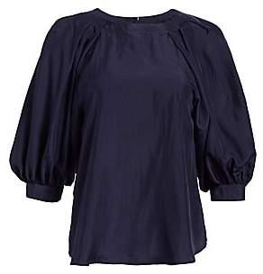 Emporio Armani Women's Silk Puff-Sleeve Blouse