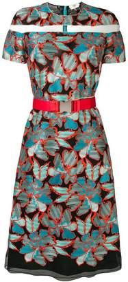 Fendi floral embroidered dress