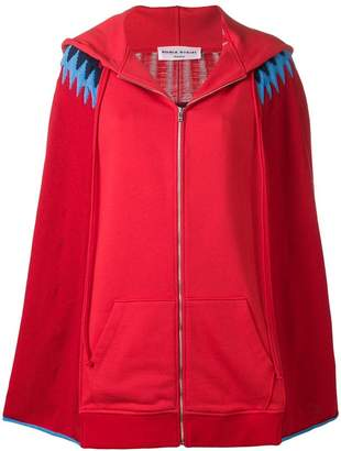 Sonia Rykiel hooded knit cape cardigan