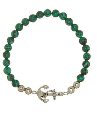 Jean Claude Green Turquoise Stainless Steel Anchor Bracelet
