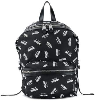 Moschino monogram print backpack