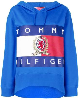 Tommy Hilfiger (トミー ヒルフィガー) - Hilfiger Collection printed oversized hoodie