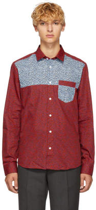 Kenzo Red Leopard Patched Shirt