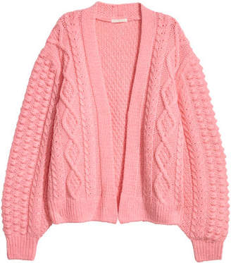 H&M Knit Wool-blend Cardigan - Pink