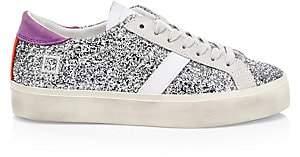D.A.T.E Women's Hill Double Glitter Low-Top Sneakers