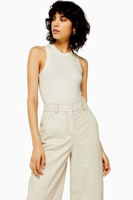 Topshop Womens **Racer Bodysuit By Boutique - Ivory