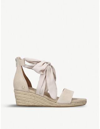 74ed1999315 Ugg Suede Wedge Sandals - ShopStyle UK