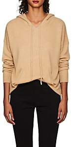 Barneys New York WOMEN'S CASHMERE HOODED SWEATER - CAMEL SIZE XS