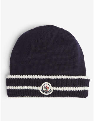 Moncler Knitted logo beanie