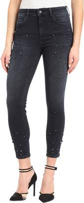 Mavi Jeans Tess Beaded Super Skinny Ankle Jeans