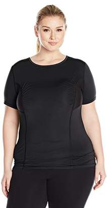 Fruit of the Loom Women's Breathable Shirred Performance Mesh T-Shirt