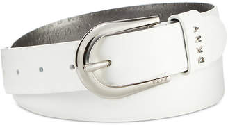 DKNY Belt With Metal Logo Letters, Created for Macy's