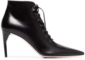 Miu Miu 85 Lace-up leather ankle boots