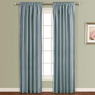 Co United Curtain Anna Silk Rod Pocket Single Curtain Panel