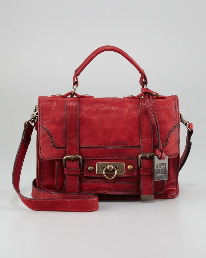 Frye Cameron Small Satchel Bag, Burnt Red