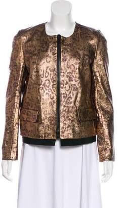 Golden Goose Leather Metallic Jacket