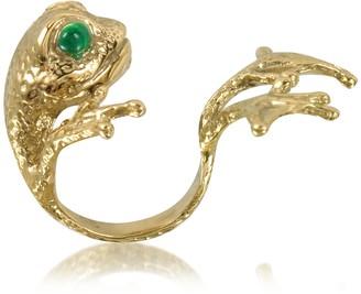 Bernard Delettrez Bronze Frog Ring w/Big Paws